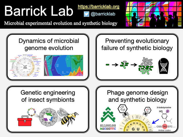 Barrick Lab Overview